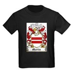 Martin Family Crest Kids Dark T-Shirt