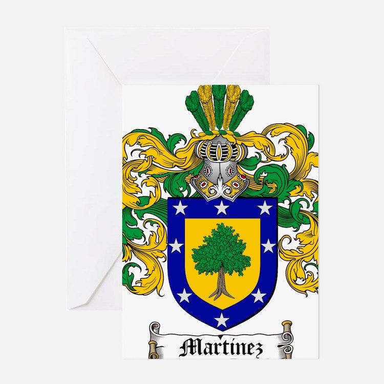 Martinez Family Crest Greeting Card