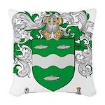McCabe Family Crest Woven Throw Pillow