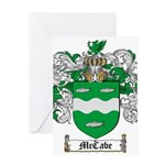 McCabe Family Crest Greeting Card