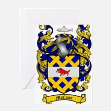McCann Family Crest Greeting Card