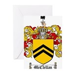 McClellan Family Crest Greeting Cards (Pk of 20)