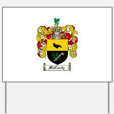 McCurdy Family Crest Yard Sign