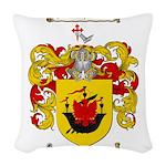McDonald Family Crest Woven Throw Pillow