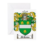 McKenna Family Crest Greeting Cards (Pk of 10)