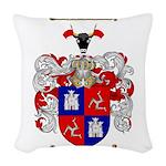McLeod Family Crest Woven Throw Pillow