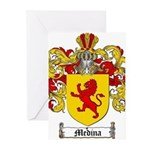 Medina Family Crest Greeting Cards (Pk of 20)