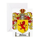 Medina Family Crest Greeting Card