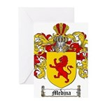 Medina Family Crest Greeting Cards (Pk of 10)