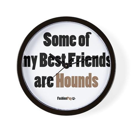 Hounds Best Friend Wall Clock