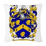 Miles Family Crest Woven Throw Pillow