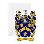 Miles Family Crest Greeting Card