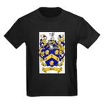 Miles Family Crest Kids Dark T-Shirt