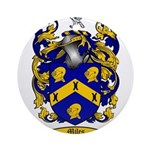 Miles Family Crest Ornament (Round)