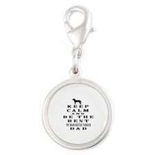 Toy Manchester Terrier Dad Designs Silver Round Ch