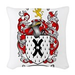 Mills Family Crest Woven Throw Pillow