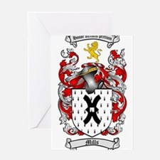 Mills Family Crest Greeting Card