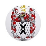 Mills Family Crest Ornament (Round)