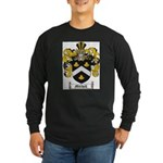Mitchell Family Crest Long Sleeve Dark T-Shirt