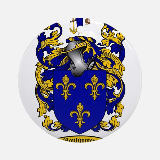 Montgomery Family Crest Ornament (Round)