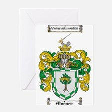 Mooney Family Crest Greeting Card