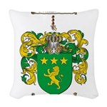 Moore Family Crest Woven Throw Pillow