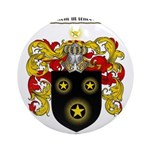 Moran Family Crest Ornament (Round)