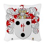 Morse Family Crest Woven Throw Pillow