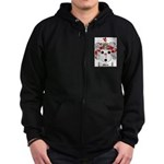 Morse Family Crest Zip Hoodie (dark)