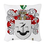 Myers Family Crest Woven Throw Pillow