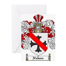 Nelson Family Crest Greeting Cards (Pk of 20)