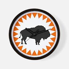 Houston Buffaloes Wall Clock