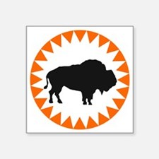 "Houston Buffaloes Square Sticker 3"" x 3"""