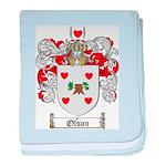 Olson Family Crest baby blanket