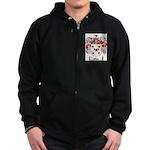 Olson Family Crest Zip Hoodie (dark)