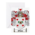 Olson Family Crest Greeting Cards (Pk of 20)