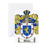 Ortiz Family Crest Greeting Cards (Pk of 20)