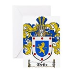 Ortiz Family Crest Greeting Card