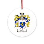 Ortiz Family Crest Ornament (Round)