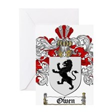 Owen Family Crest Greeting Card