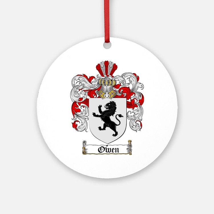 Owen Family Crest Ornament (Round)
