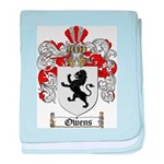 Owens Family Crest baby blanket
