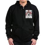 Owens Family Crest Zip Hoodie (dark)