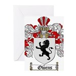 Owens Family Crest Greeting Cards (Pk of 20)
