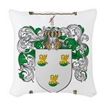 Patterson Family Crest Woven Throw Pillow