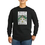 Patterson Family Crest Long Sleeve Dark T-Shirt