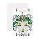Patterson Family Crest Greeting Cards (Pk of 10)