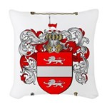 Payne Family Crest Woven Throw Pillow