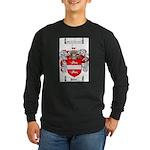 Payne Family Crest Long Sleeve Dark T-Shirt