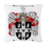 Peterson Family Crest Woven Throw Pillow
